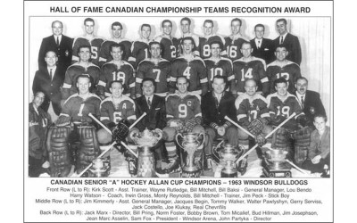 Windsor Bulldogs 1963 Men's Ice Hockey Team
